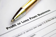 Profit or loss. From business Stock Photo