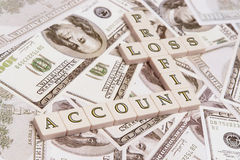 Profit & loss account Royalty Free Stock Photo