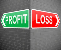 Profit or loss concept. Royalty Free Stock Photo
