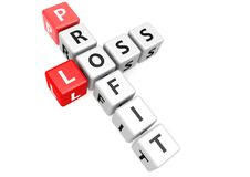 Profit and loss in cube. A render artwork with white background Royalty Free Stock Photography