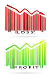 Profit and loss graph Stock Photos