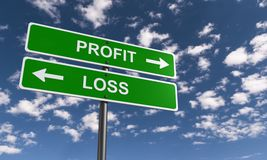 Profit and loss vector illustration