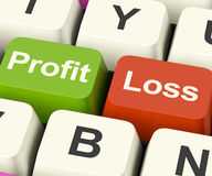 Profit Or Loss Keys Showing Returns For Internet Business Royalty Free Stock Photography