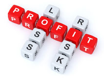 Profit loss Risk crosswords Stock Photography