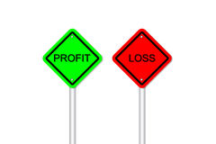 Profit and loss road sign style Stock Photography