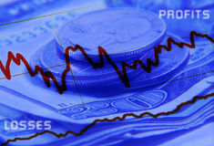 Profit and Losses. Abstract Background For Financial Concept Royalty Free Stock Images