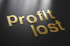 Profit and lost Stock Image