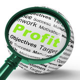 Profit Magnifier Definition Means Company Growth Or Performance Stock Photography