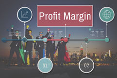 Profit Margin Finance Income Sales Revenue Accounting Concept Royalty Free Stock Images