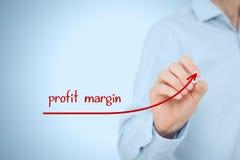 Profit margin. Increase profit margin concept. Businessman plan (predict) profit margin growth represented by graph stock photos
