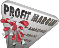Profit Margin Thermometer Measuring Income Royalty Free Stock Photography
