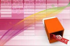 Profit Margin in van Illustration Stock Photo