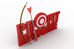 Profit Margin Words with bow and arrow Stock Photo