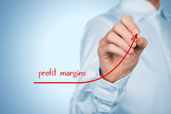 Profit margins Royalty Free Stock Images