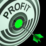 Profit Means Financial Success And Earning Revenue. Profit Meaning Financial Success And Earning Revenue Royalty Free Stock Images