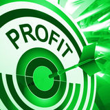 Profit Means Market And Trade Earning Royalty Free Stock Image