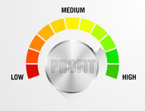 Profit Meter Illustration Stock Images