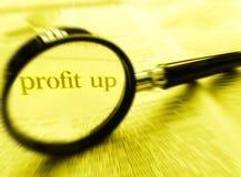 Profit oben Stockfoto