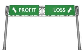 Profit oder Verlust Stockfotografie