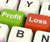 Profit-oder Verlust-Tasten Stockbild
