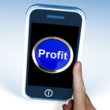 Profit On Phone Shows Profitable Incomes Stock Photography
