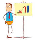Profit presentation Stock Image