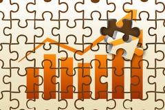 Profit puzzle Stock Image