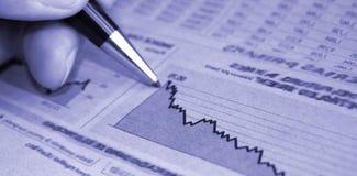 Profit report Stock Image
