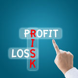 Profit risk loss Stock Photography