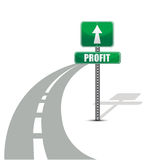 Profit road illustration design concept Royalty Free Stock Images