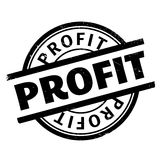 Profit rubber stamp Royalty Free Stock Photography