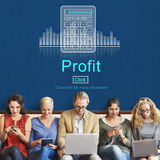 Profit Savings View Earnings View Total Amount Concept Royalty Free Stock Photos