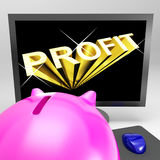 Profit Screen Shows Success And Market Growth Stock Photography