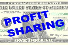Profit Sharing - financial concept Royalty Free Stock Photography