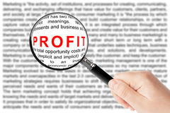 Profit sign Stock Image