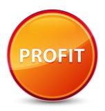 Profit special glassy orange round button stock illustration