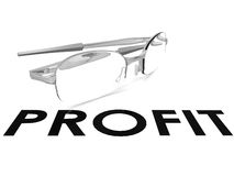 Profit spectacle Stock Images