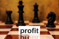 Profit strategy concept Royalty Free Stock Image
