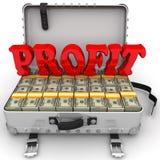 Profit. Suitcase full of money Stock Photography