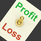 Profit Switch On Representing Earnings Stock Photos