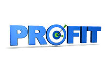 Profit Target. Profit concept with target and two arrows on green centre. On white background Stock Photography
