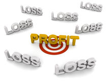Profit target Royalty Free Stock Photography
