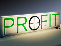 Profit Target Means Market And Trade Income Stock Images