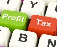 Profit Tax Keys Show Paying Company Taxes Royalty Free Stock Photo