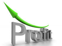 Profit text with arrow #2 Royalty Free Stock Photos