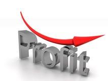 Profit text with arrow #3 Royalty Free Stock Photo