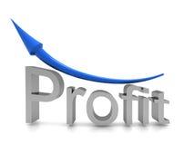 Profit text with arrow  #1. Profit text with arrow on white background #1 Royalty Free Stock Photos