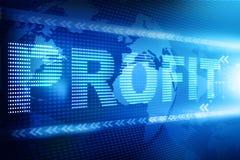 Profit  text Royalty Free Stock Photo