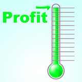 Profit Thermometer Represents Profitable Income And Thermostat Royalty Free Stock Photo