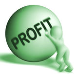 Profit Uphill Sphere Shows Cash Wealth Revenue Royalty Free Stock Image
